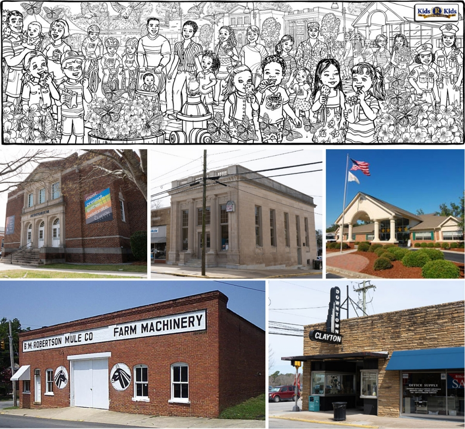 Example of New Illustration--Clayton, NC Buildings - 5024