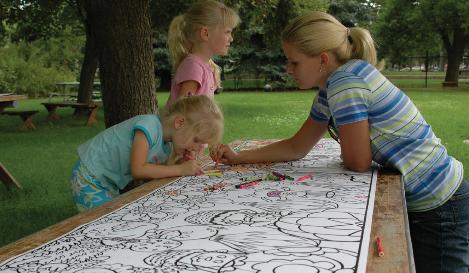 Table-Sized Coloring Sheets