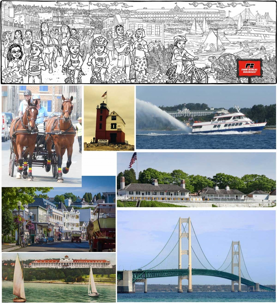 Example of New Illustration--Mackinac Island - 5018