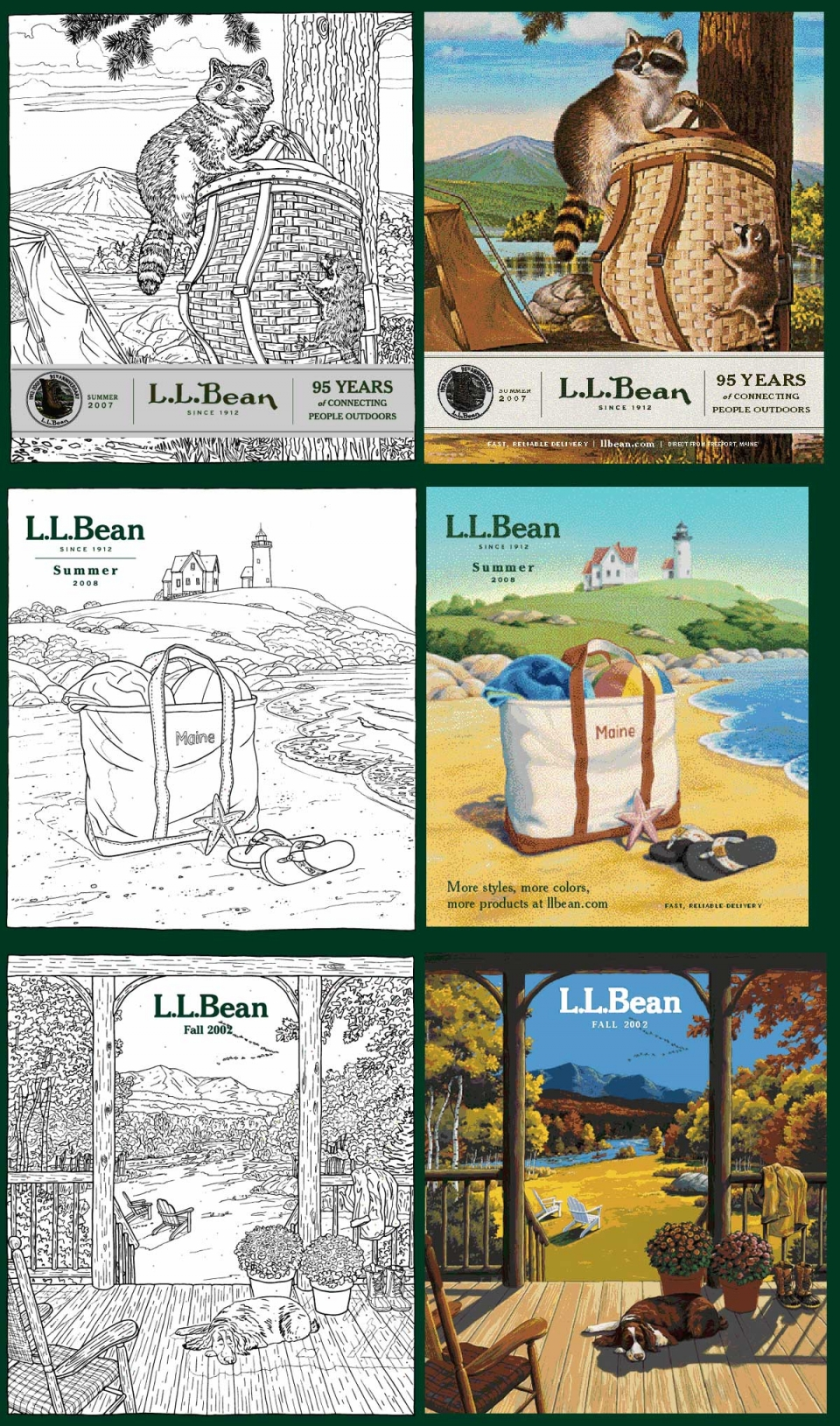 L.L. Bean Catalog Covers - 5016