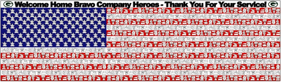 American Flag Message - 1052