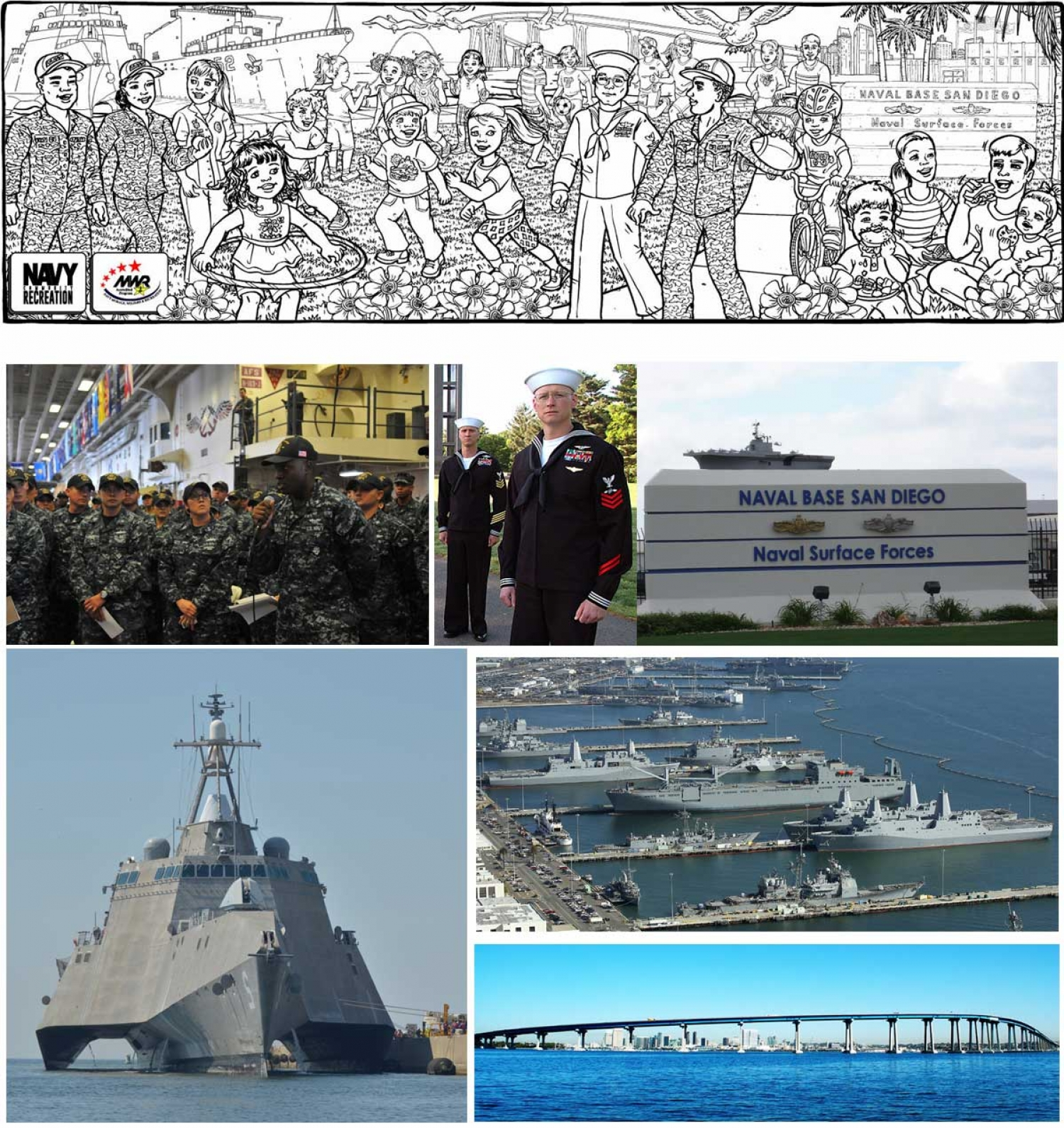 Example of New Illustration--Naval Base San Diego - 5017