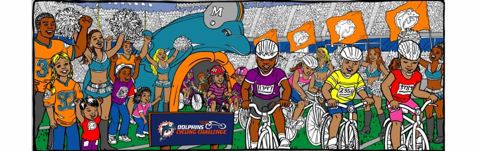 Miami Dolphins Cycling Challenge Bike Race - 1379